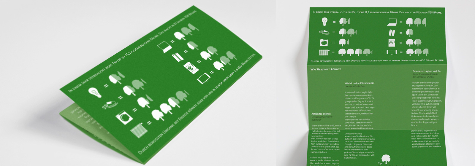 photo of a green flyer about energy saving